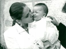 Ornella Muti together with daughter Carolina.
