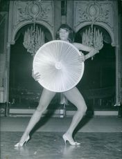 Sherry Young strike a pose, 1961.