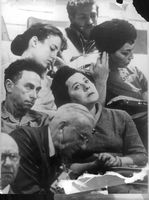 People at trial of Adolf Eichmann.
