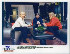Steffi Graph with father and mother at home