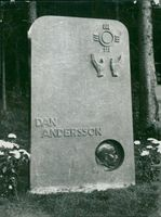 Memorial care over Dan Andersson at Ludvika cemetery