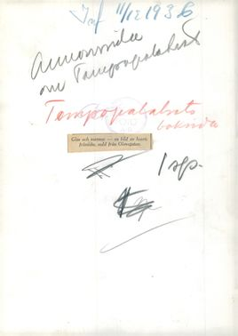 Back cover of the tempo