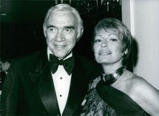 Veteran Hollywood film and TV actor Lorne Greene with his wife Nancy. 1980.
