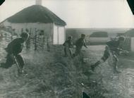 Soldiers from Czechslovakia in battle over Kiev.