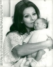 Sophia Loren keeps her second son, Edoardo, in the hospital room in Geneva