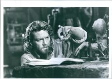 "Kenneth Branagh starring in the film ""Mary Shelley's Frankenstein""."