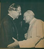 Pope John Paul II and the Archbishop of Canterbury.