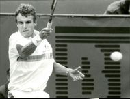 Mats Wilander plays in French open at Stade Roland Garros