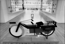 Motorcycle designed by Theo van Doesburg, at the Design Museum in London
