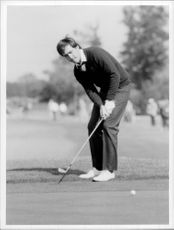 Action picture on Seve Ballesteros taken during the Ryder Cup.