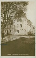 School of Economics in Uppsala. Exterior - postcard