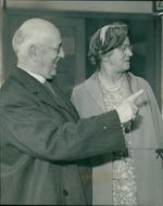Geoffrey Fisher with Mrs. Fisher.