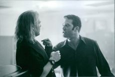 Vincent D'Onofrio  and Craig Bierko in the film The Thirteenth Floor, 1999.