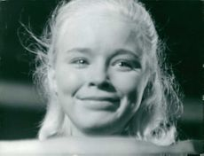 Jill Haworth, with tear in her eyes, on set of Exodus.