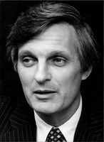 Portrait of Alan Alda.
