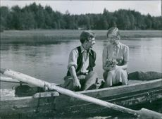 "A scene from the film ""Ordet"" (The Word), with Stig Olin as Anders and Inga Landgré as Ester, 1943."