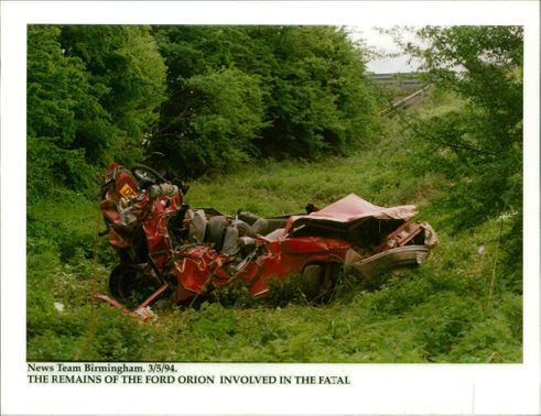 road accidents:the ramains of ford orion.