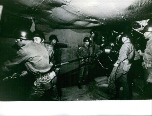 Workers under the tunnel in Formosa.
