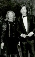 """Actress Hayley Mills together with musician Marcus Maclaine at the premiere of the movie """"Death to Meet"""""""