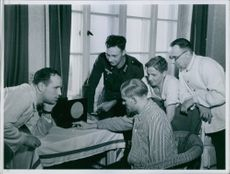 German High Command announces wounded German soldiers in radio report. 1940