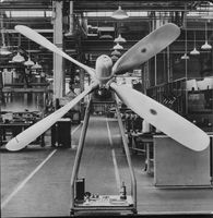 The four-blade propeller specially manufactured in the USA for the Swedish airliner Scandia.
