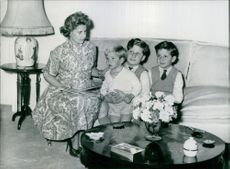 Duchess of Alba and Berwick with her three sons.