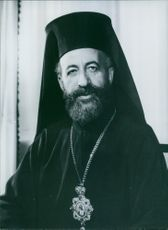 Close up of President of Cyprus Archbishop Makarios III