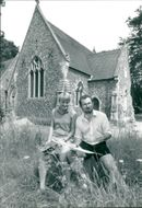 Ruth Welch and Simon Hooton outside the old cemetery chapel.