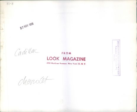 Catalog for Cadillac and Chevrolet cars.