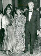 Gregory Peck with his wife and daughter