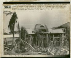 Hurricane Hugo partial view of the village