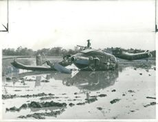 two United States helicopters shot down near South Vietnam