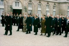 Memorial ceremony of the Lost President François Mitterrand at the Notre Dame de Paris Cathedral