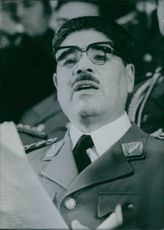 Portrait of  President Juan Jose Torrez of Bolivia, 1970.