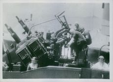 Fleet beat off two day attack on convoy.