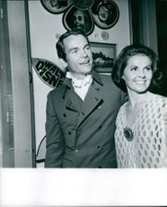 Dean Carroll Jones with his wife Mae. 1969.