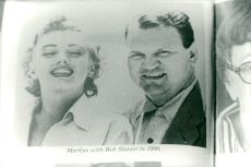 A picture of a bookshop with Marilyn Monroe and Bob Slatzer