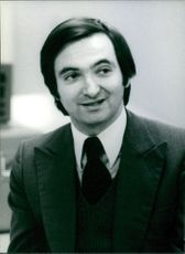 Portrait of  Jacques Attali French Economists, 1978.