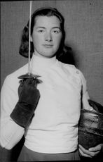 Portrait image of the fighter Elin Vanner taken in an unknown context. - 27 April 1947