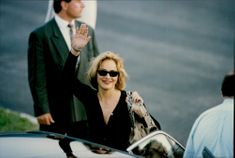 """Sharon Stone arrives at Nice to attend the premiere of """"Faster Than Death"""" at the Cannes Film Festival"""