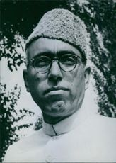 Vintage photograph of Sheikh Mohammad Abdullah. 1964.