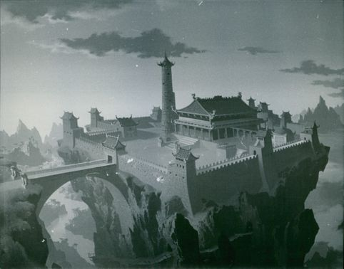 The mythical kingdom of Xanadu from the film Marco Polo Junior Versus the Red Dragon, 1972.