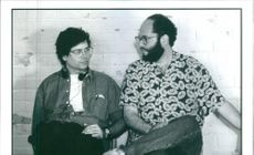 Steven Zaillian and Scott Rudin, Director and Producer of the film Searching for Bobby Fischer, 1993.