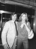 The tennis player Ilie Nastase and the model model Cheryl Tiegs