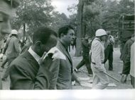 James Meredith in  Mississippi in a kayos. 1962