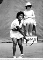 Zina Garrison, USA, during the Wimbledon tournament.