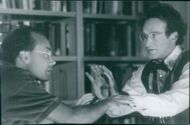 Robin Williams and Les Mayfield in the scene of the movie,