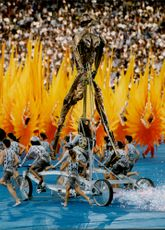 At least, the opening ceremony was spectacular.