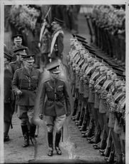 King George VI inspects the troops