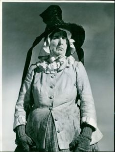 Actress Dame Sybil Thorndike as Mrs. Squeers in